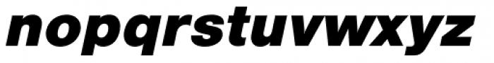 Nimbus Sans L Black Italic Font LOWERCASE