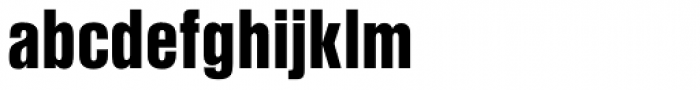 Nimbus Sans L Cond Black Font LOWERCASE