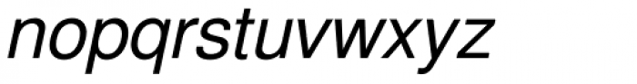 Nimbus Sans L Italic Font LOWERCASE
