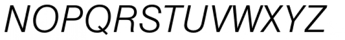 Nimbus Sans Light Italic Font UPPERCASE