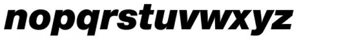 Nimbus Sans Novus Black Italic Font LOWERCASE
