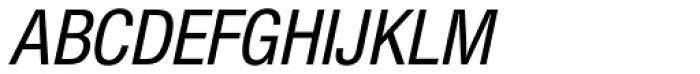 Nimbus Sans Novus Cond Medium Italic Font UPPERCASE