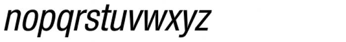 Nimbus Sans Novus Cond Medium Italic Font LOWERCASE