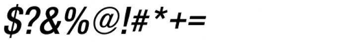 Nimbus Sans Novus Cond SemiBold Italic Font OTHER CHARS