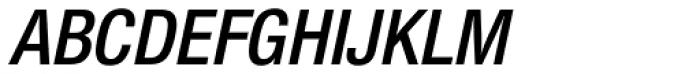 Nimbus Sans Novus Cond SemiBold Italic Font UPPERCASE