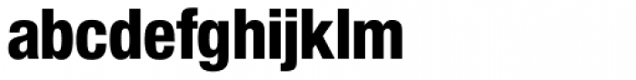 Nimbus Sans Novus D Cond Heavy Font LOWERCASE