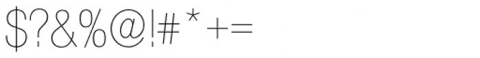 Nimbus Sans Novus D Cond UltraLight Font OTHER CHARS