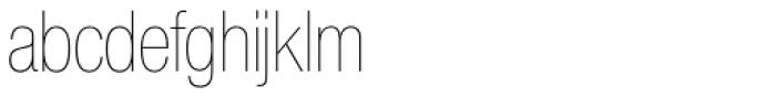 Nimbus Sans Novus D Cond UltraLight Font LOWERCASE