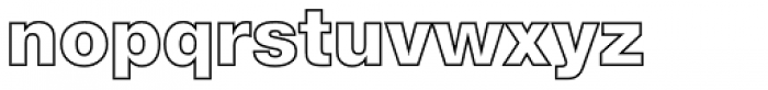 Nimbus Sans Novus Outline D Black Font LOWERCASE