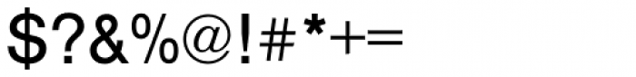 Nimbus Sans Regular Font OTHER CHARS