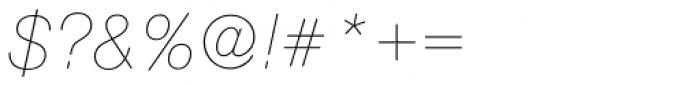 Nimbus Sans Round Ultra Light Italic Font OTHER CHARS