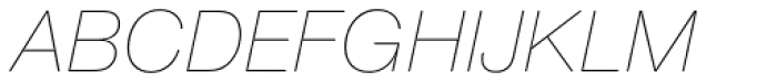 Nimbus Sans Round Ultra Light Italic Font UPPERCASE