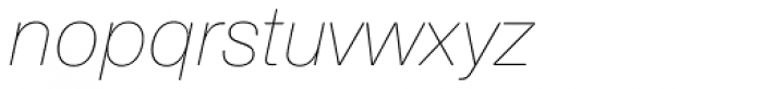 Nimbus Sans Round Ultra Light Italic Font LOWERCASE