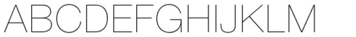 Nimbus Sans Round Ultra Light Font UPPERCASE