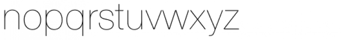 Nimbus Sans Round Ultra Light Font LOWERCASE