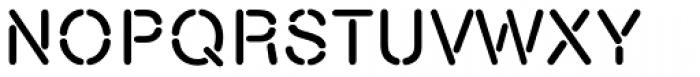 Nimbus Stencil D Font UPPERCASE