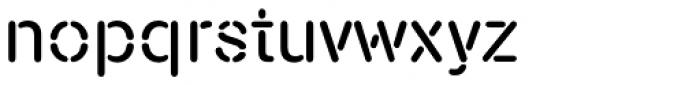 Nimbus Stencil D Font LOWERCASE