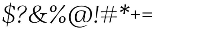 Ninfa Serif Light Italic Font OTHER CHARS