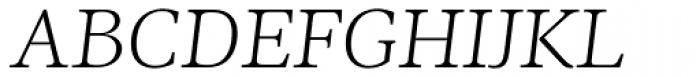 Ninfa Serif Light Italic Font UPPERCASE