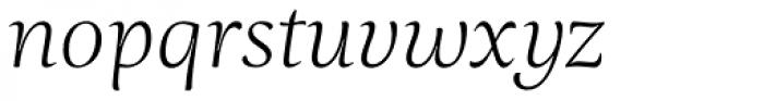 Ninfa Serif Light Italic Font LOWERCASE