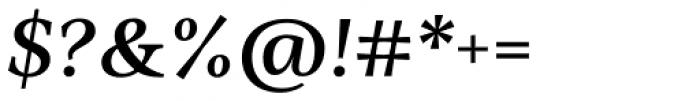 Ninfa Serif SemiBold Italic Font OTHER CHARS