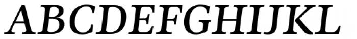 Ninfa Serif SemiBold Italic Font UPPERCASE