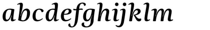 Ninfa Serif SemiBold Italic Font LOWERCASE