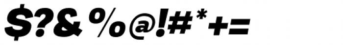 Nitro Black Italic Font OTHER CHARS