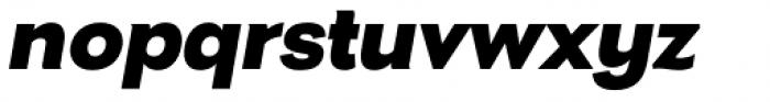Nitro Black Italic Font LOWERCASE