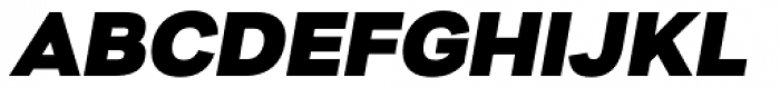 Nitro Black Oblique Font UPPERCASE