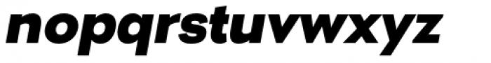 Nitro Black Oblique Font LOWERCASE