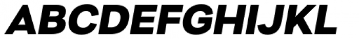 Nitro Extra Bold Oblique Font UPPERCASE