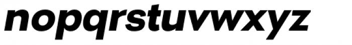Nitro Extra Bold Oblique Font LOWERCASE