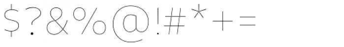 Niva Alt Thin Font OTHER CHARS