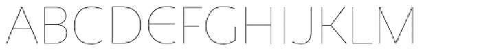 Niva Alt Thin Font UPPERCASE