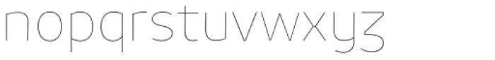 Niva Alt Thin Font LOWERCASE