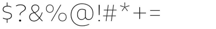 Niva Alt Ultra Light Font OTHER CHARS