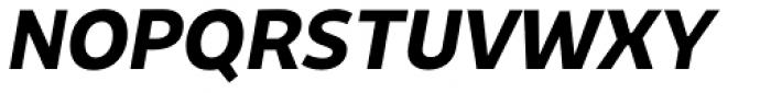 Niva Bold Italic Font UPPERCASE