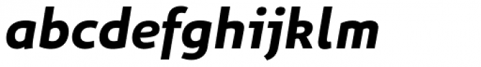 Niva Bold Italic Font LOWERCASE