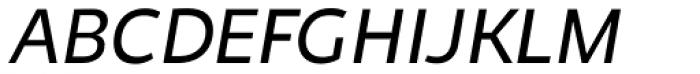Niva Book Italic Font UPPERCASE
