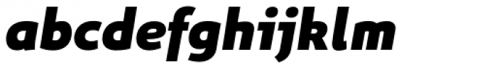 Niva Extra Black Italic Font LOWERCASE