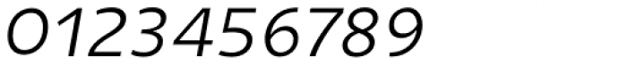 Niva Light Italic Font OTHER CHARS