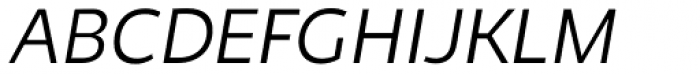 Niva Light Italic Font UPPERCASE
