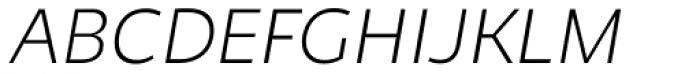 Niva Small Caps Extra Light Italic Font UPPERCASE
