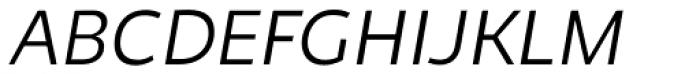 Niva Small Caps Light Italic Font UPPERCASE
