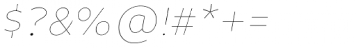 Niva Small Caps Thin Italic Font OTHER CHARS