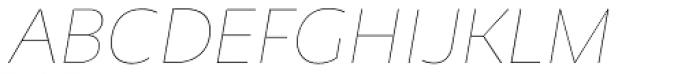 Niva Small Caps Thin Italic Font UPPERCASE