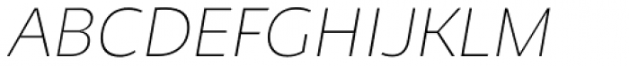 Niva Small Caps Ultra Light Italic Font UPPERCASE