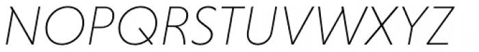 Niveau Grotesk ExtraLight Italic Font UPPERCASE