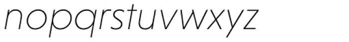 Niveau Grotesk ExtraLight Italic Font LOWERCASE